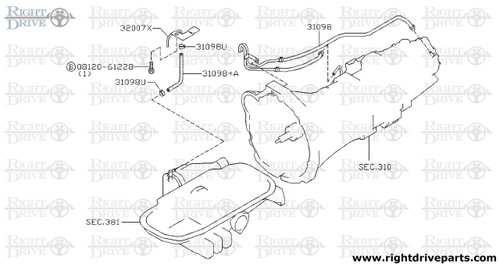 31098 - hose, breather - BNR32 Nissan Skyline GT-R