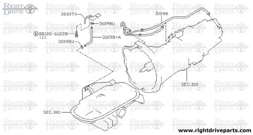 31098+A - hose, breather - BNR32 Nissan Skyline GT-R