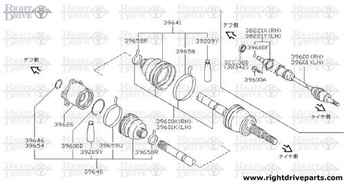 39616 - plug, slide joint - BNR32 Nissan Skyline GT-R