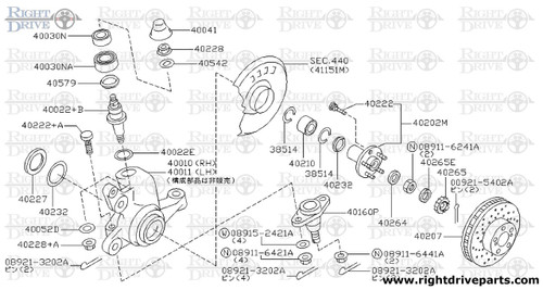 40052D - washer, lock - BNR32 Nissan Skyline GT-R