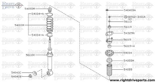 54010A - bolt - BNR32 Nissan Skyline GT-R
