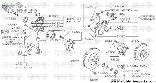 43081A - bolt - BNR32 Nissan Skyline GT-R