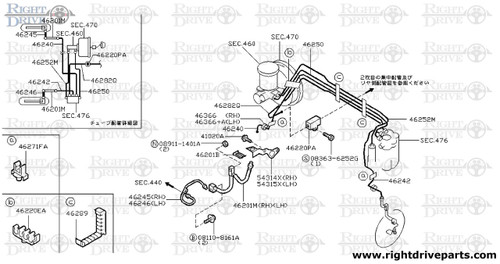41020A - bolt - BNR32 Nissan Skyline GT-R