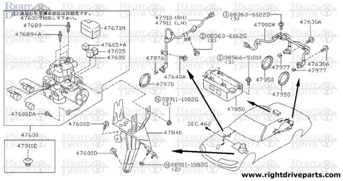 47600DA - bolt - BNR32 Nissan Skyline GT-R