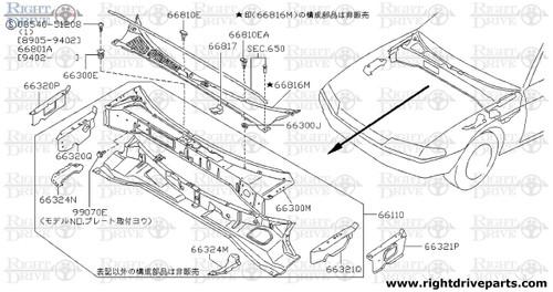 66801A - screw - BNR32 Nissan Skyline GT-R