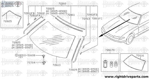 72811FB - clip - BNR32 Nissan Skyline GT-R