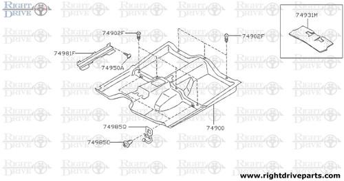 74950A - screw - BNR32 Nissan Skyline GT-R