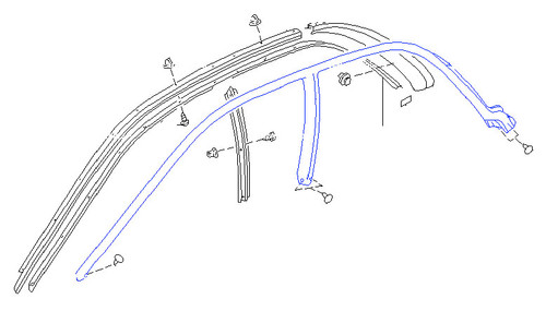 Weatherstrip - Door Glass, Front - GC8 Subaru Impreza WRX STI