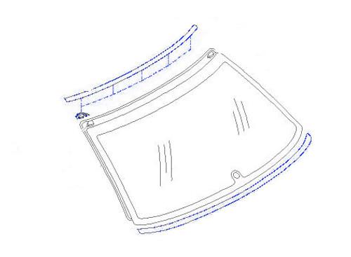 Molding - Rear Glass - GC8 Subaru Impreza WRX STI