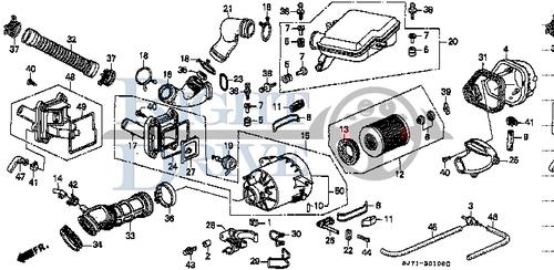COLLAR, BRACKET - #2 - 17125 - Honda Acty HA4