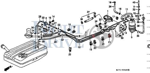 CLIP. BONNET OPEN WIRE - #17 - 91504 - Honda Acty HA4