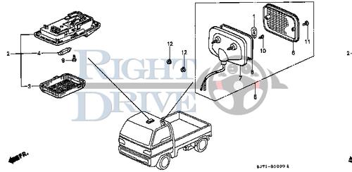 SCREW, TAPPING 4X12 - #11 - 93901 - Honda Acty HA4