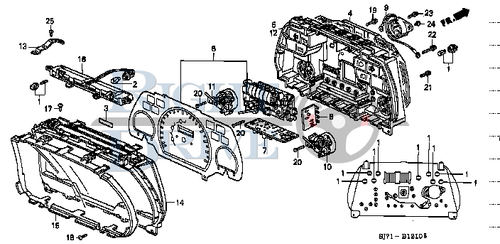 BULB (14V 1.4W) - #2 - 35506 - Honda Acty HA4