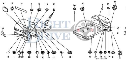 PLUG, BLIND 20MM - #20 - 95550 - Honda Acty HA4