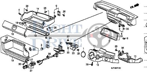 LOCK, GLOVE BOX *NH133L* - #18 - 77521 - Honda Acty HA4