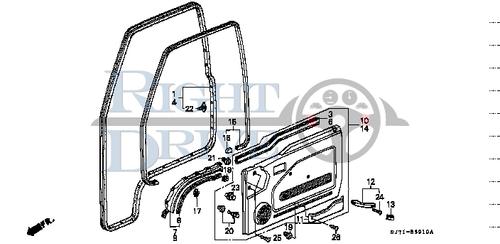 GROMMET, SCREW 4MM(BLUE) - #19 - 90662 - Honda Acty HA4