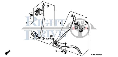 SEAT BELT ASSY.,L. FRONT *YR129L* - #3 - 81800 - Honda Acty HA4