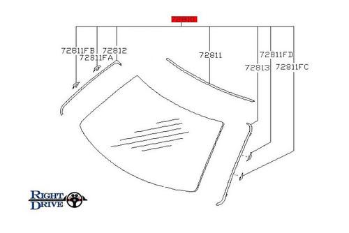 Nissan Skyline R32 Windshield Molding Kit
