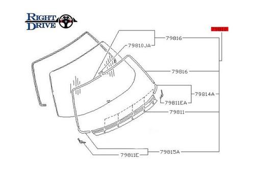 Nissan Skyline R32 Rear Glass Molding Kit