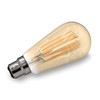8w Vintage Gold Tinted Squirrel Cage LED Filament Bulb (BC / B22)