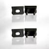 Set of 4 End Caps for Mini Aluminium Extrusion Profile, Black