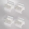 Set of 4 Mounting Brackets For Our Mini Aluminium Channel Profile