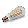 7.5w Antique Carbon Tinted Squirrel Cage LED Filament Bulb (BC / B22) - Equivalent to 60w / 80w
