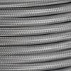 Braided Fabric Flex Cable Grey