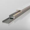 Wide Angle Slide-in Aluminium Profile, Silver, 2 Metre Length