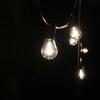 Weatherproof LED Festoon Lighting | 10 Metres Long, 20 Bulb, 500mm Spacing in Black