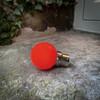 Weatherproof Festoon Lamps | Golf Ball 1W In Red (B22/BC)