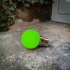 Weatherproof Festoon Lamps | Golf Ball 1W In Green (B22/BC)