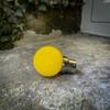 G45 Golf Ball Shape Shatterproof Festoon Lamp, Yellow, B22