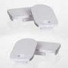 Set of 4 End Caps For Closet Rail Aluminum LED Profile 19x30mm
