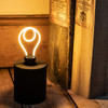 Didsbury LED Silhouette Bulb, Spiral Outline, Dimmable