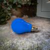 GLS Shape Shatterproof Festoon Lamp, Blue, B22
