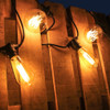 7.5 metre, 10 Vintage Lamp Festoon String, 750mm Spacing with 5 Squirrel Cage and 5 G95 Bulbs, B22, 2200K, Very Warm White