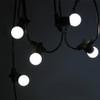 10 metre, 20 Golf Ball Lamp Festoon String, 500mm Spacing with 20 bulbs, B22, Cool White