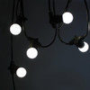 15 metre, 20 Golf Ball Lamp Festoon String, 750mm Spacing with 20 bulbs, B22, Cool White