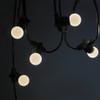 15 metre, 20 Golf Ball Lamp Festoon String, 750mm Spacing with 20 bulbs, B22, Warm White