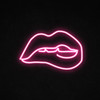 Biting Lip LED Neon Sign