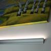 Wall Mounted Coving Aluminium Profile. 43x17mm, Silver, 2 Metre Length