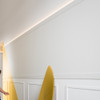 Diagonal High Density Polymer Wall Coving for Ceiling or Skirting