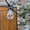 GLS Shape Shatterproof Clear Filament Festoon Lamp, Warm White 3000K, B22