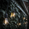 5 Metre Alternate Drop Connectable Pendant Festoon String with 10 GLS Clear Filament Warm White Lamps and Power Cable4