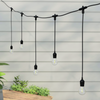 5 Metre Alternate Drop Connectable Pendant Festoon String with 10 GLS Clear Filament Warm White Lamps and Power Cable1