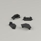 Set of 4 End Caps for Straight Corner Aluminium Extrusion Profile, Black