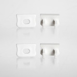 Set of 4 End Caps for Mini Aluminium Extrusion Profile, White