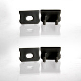 Set of 4 End Caps for Mini Aluminium Extrusion Profile, Black