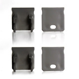 Set of 4 End Caps for Extra Deep With Trim Aluminium Extrusion Profile, Grey